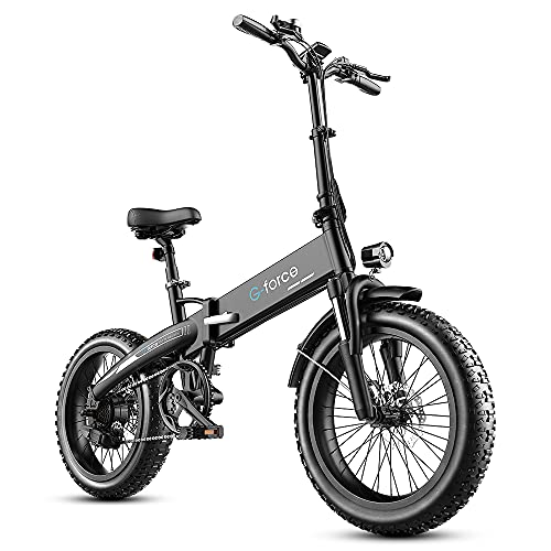 G-Force T42 Foldable 20-inch 4.0 Fat Tire Electric Bike
