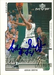 Autograph Warehouse 44795 Adrian Griffin Autographed Basketball Card Boston Celtics 2000 Upper Deck Mvp No .11