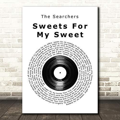 Snoepjes voor Mijn Zoete Vinyl Record Song Lyric Quote Muziek Gift Wall Art Poster Print Medium A4