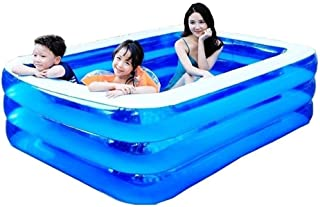 Family Swimming Pool Courtyard Garden Inflatable Swimming Pool, Inflatable Swimming Pool for Kids and Adults, Big-Sized Su...