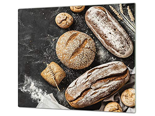 Protector de placas de cocina de 60 cm – Cubre encimeras de cristal – Tabla de cortar – UNA PIEZA (60 x 52 cm) o DOS PIEZAS (30 x 52 cm) 60D09