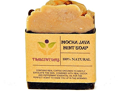 Exfoliating Coffee Mint Soap in Gift Box 100% Natural With Greek Yogurt and Loaded With Skin Loving Oils Like Coconut Olive and Grapeseed (1 Pack)