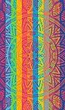 Secaneta Toalla de Playa Grande de 100x170 cm, de Algodón Egipcio 100%, Dandeliom, Multicolor, 170 cm