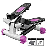 Comeon Mini Stepper Indoor Stair Stepper Indoor Cycling Exercise Bike Portable Mini Stepper with Resistance Band for Home Office