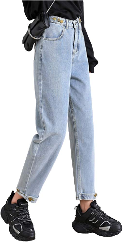Women's Spring and Cheap Summer Jeans Al sold out. Fashion W High Loose Solid Color