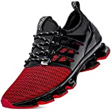 Men Sport Athletic Walking Shoes mesh Breathable Comfort Fashion Sneakers Runner Jogging Casual Tennis Trainers red Size 12 (8066-red-46)