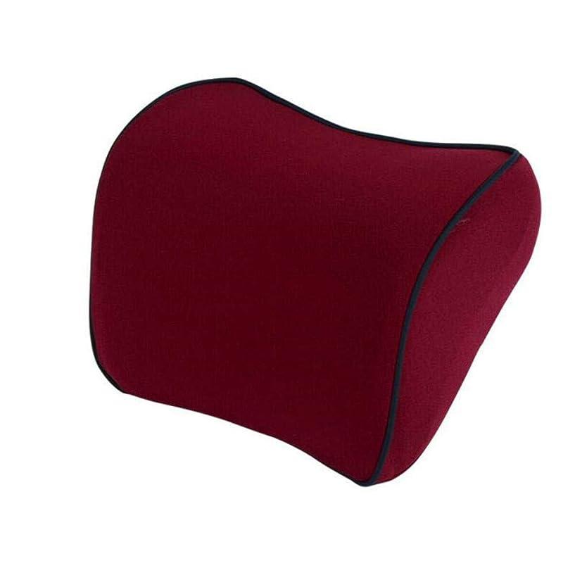 ネックパッド車用 クッション 低反発頸椎ネックピロー ヘッドレスト首枕ドライブネックサポートクッションネ 疲れ解消(ブラック)