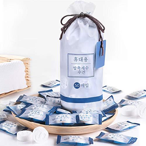 GothicBride Komprimiertes Handtuch 100% Biologisch Abbaubar Mini-Handtuch Sporthandtücher für Camping Mini Compressed Towel, platzsparend, weich, Handtuch, Geschirrtuch, Erfrischungstuch mit Wasser