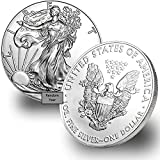Purity: .999 Fine Silver Metal Content: 1 Troy Ounce Diameter: 40.6 mm; Thickness: 2.98 mm Stock Photo; Image is indicative of quality You will receive one random year coin per purchase