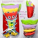 Montessori Spielzeug, Baby Busy Board, Lernbrett Für Kleidung, Kinder Lernspiele Fädelspiel Pädagogisches Lernspielzeug, Schnürsenkel Binden Lernen, Praktische Fähigkeiten Entwickeln