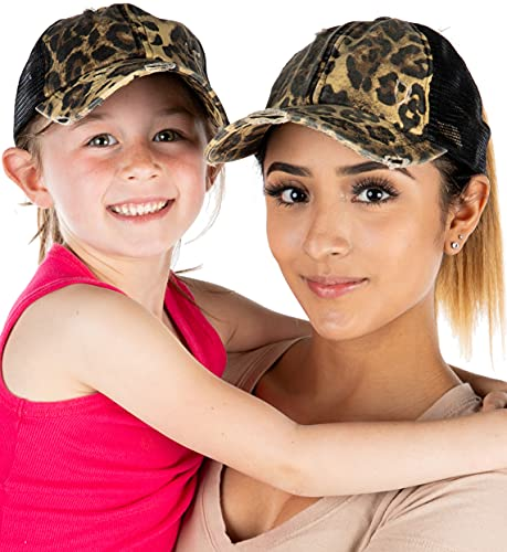 Mommy and Me Criss-Cross Hat Bundle (2 Pack)