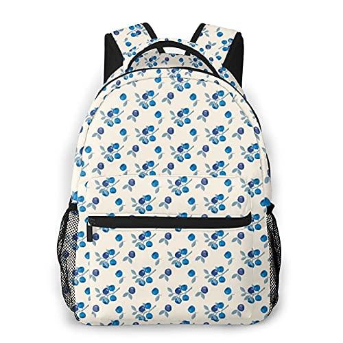 LUDOAN Sac à dos pour ordinateur portable de voyage,myrtilles de montagne,branches de fruits,concept de jardin de chalet biologique,sac à...