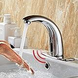 MODUNDRY Grifo Automático Sin-contacto con Sensor Infrarrojo de Lavabo Baño Cocina Grifo Agua con Caja de Control