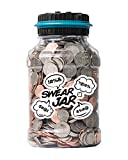 Swear Jar, Electronic Piggy Bank by Houseify, Digital Bank Coin Counter w/ LCD Screen, US Coins, Gift for Adults, Teens, Families, Couples, Coworkers, Counts 800-1000 Coins, Takes 2 AAA Batteries