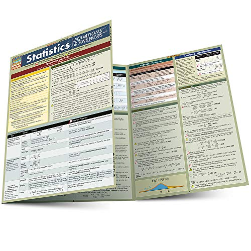 Statistics Equations & Answers (Quickstudy: Academic)