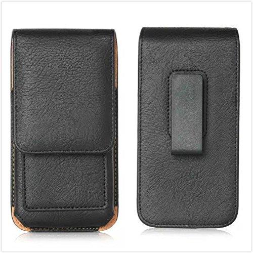 generia blu Dash X (D010) Funda para teléfono móvil de rotación vertical Pouch sintética Holster Teléfono Celular Negro
