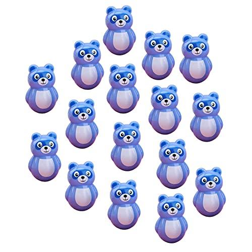 duhe189014 Mini Juguetes de Vaso, Juguete Educativo para bebés, para niños Adultos, Juguete de descompresión Roly Poly Wobbler, diseño de Animales Cortados, Juguetes de Columpio