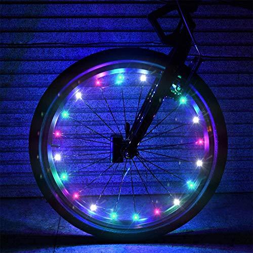 GYAM Paquete de 2 Llantas para Bicicleta, Luces LED para Rueda de Bicicleta, Luces Decorativas para Bicicleta, Luces LED para Bicicleta ultrabrillantes Impermeables para Ruedas de Seguridad,Colored