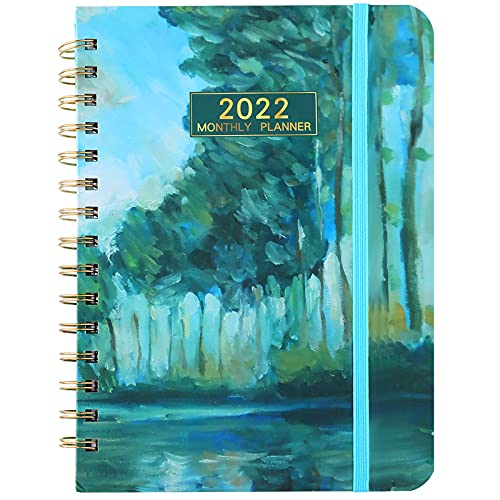 2022 Monthly Planner- Academic Weekly & Monthly Planner with Monthly Tabs, 8.6 x 6.5Inch, Jan 2022 - Dec 2022 . Elastic Closure,Inner Pocket,Strong Twin-Wire Binding (Classic Style,)