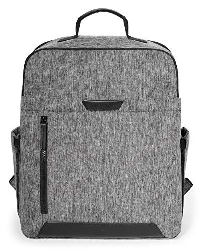 Skip Hop Diaper Bag Backpack: Baxter featuring Large Capacity, Ergonomic Design, with Changing Pad & Stroller Attachment, Textured Grey