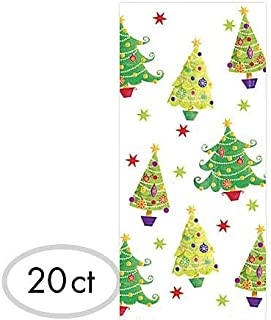 Christmas Tree Multicolored Plastic Party Bags, 20 Ct. | Supply