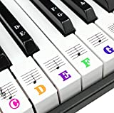 【Large LETTER DESIGN】The letters and staff on the piano stickers are increased by 20%. The font has also been bolded. In order to make it easier for kids and beginners to recognize. It solves the problem that small letters are hard to find in playing...
