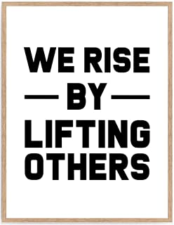 We Rise By Lifting Other Print, Motivate Roald Dahl Quote Wall Art, Inspiration Nursery Poster, Typography Words Home Décor 8x10 Unframed