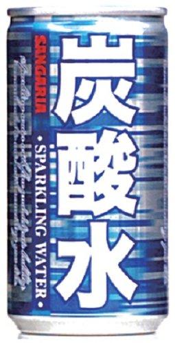 サンガリア 炭酸水 缶 185ml×30本