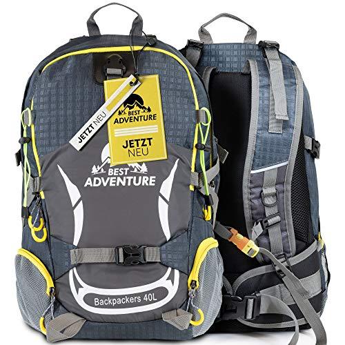 Best Adventure Wanderrucksack für Damen & Herren | 40L | wasserfest & extra leicht | perfekt für Läufer | Der ideale Outdoor Rucksack zum Wandern, Camping, Reisen & Trekking