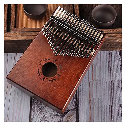 SFFSM 17 Keys Bull Kalimba Thumb Piano Mahogany Cuerpo Musical Instrumento for Principiantes, niños y Profesionales. (Color : Lattin Letter)