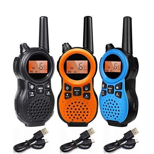 特定小電力トランシーバー 3台セット TRH 866 USB充電式小型省電力無線機、多機能トランシーバー おもちゃ 1対多交信可能です、親子アクティビティ、子供用、屋外での使用