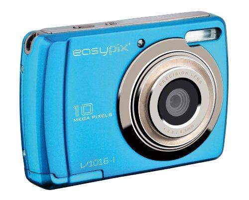 Easypix Swing Digitalkamera (10 Megapixels, 6,9 cm (2,7 Zoll) Bildschirm, HD-Video) eisblau