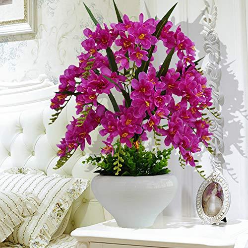 N/A Phalaenopsis bloem vlinder orchidee woonkamer kunstbloem huis van zijde bloempot keramiek bonsai accessoires