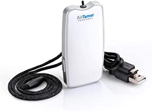 AirTamer A310 |Personal Rechargeable and Portable Air Purifier | Negative Ion Generator | Purifies Air Eliminating Germs, Dust, Viruses, Bacteria, Allergens, Mold, Odors, and More | White