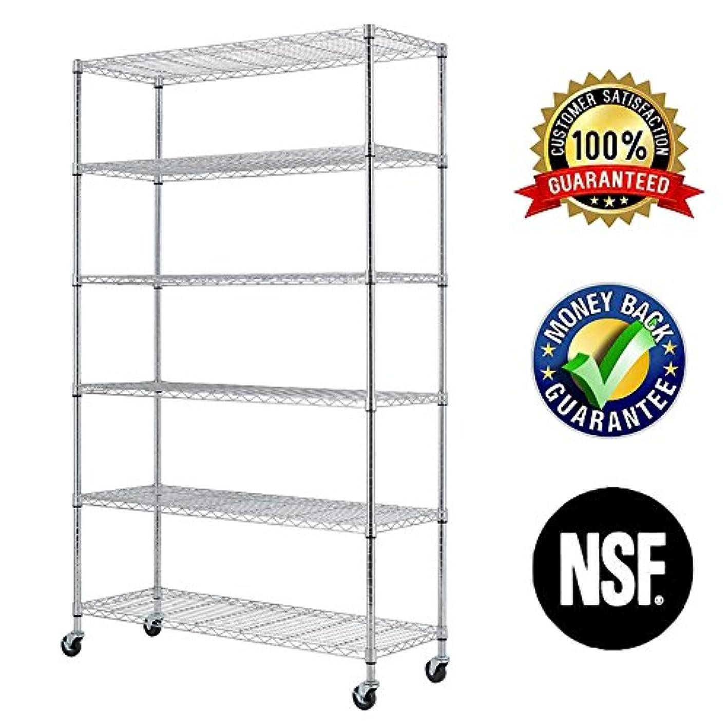 6 Tier Wire Shelving Rack,Steel Shelf 48