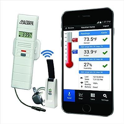 La Crosse Alerts Mobile 926-25101-GP Wireless Monitor System Set with Dry Probe