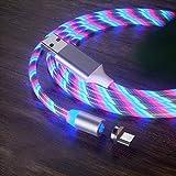 manda Stell 2,4 A schnelles magnetisches Datenkabel USB-C Typ C/IOS/Micro USB 360 rundes Schnellladegerät Farbe Streamer Kabel, 0, Mehrfarbig3