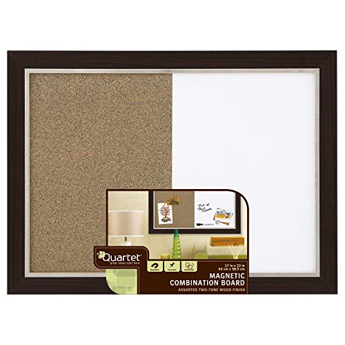 Quartet Home Decor Combination Board, 17 x 23 Inches, Dry-Erase/Cork, Two-tone Frame, Assorted Colors (HDC1723BM)