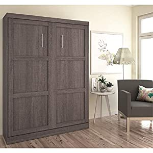 Pemberly Row Puq Easy-Lift Dual Piston Queen Size Murphy Wall Bed...