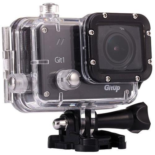 GitUp Git1 1080p Full HD Video Wi-Fi Action Camera, 1920x1080, 30fps, H.264, 98' Housing Waterproof, Pro Packaging
