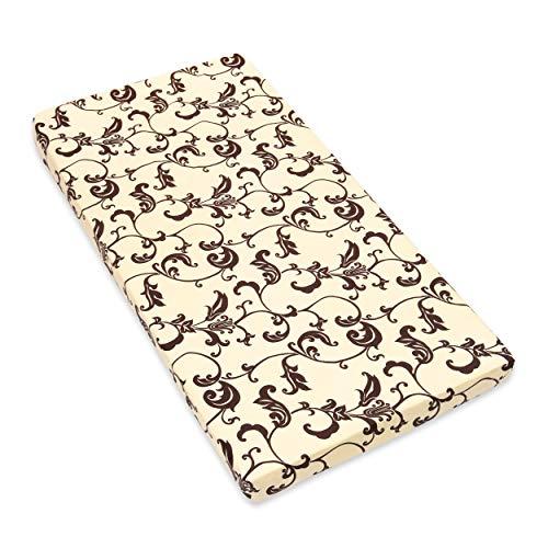 Amilian Spannbettlaken Spannbetttuch für Babybett Kinderbett 60x120 cm, 70x140 cm, 100% Baumwolle, fürs Baby, Baby Bettwäsche Größe: 140x70 cm, Muster: Retro Ecru