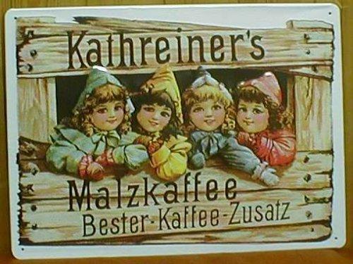 Blechschild Kathreiner's Malz Kaffee Bester Kaffee Zusatz Malzkaffee Schild retro Kaffeewerbung Werbeschild
