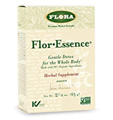 DETOX & CLEANSE AT THE CELLULAR LEVEL: Flora FlorEssence Dry Tea Blend is a natural way to detox & cleanse your body at the cellular level of the toxins built up from everyday life. SAFE AND EFFECTIVE: FlorEssence is gentle enough for everyday use wh...