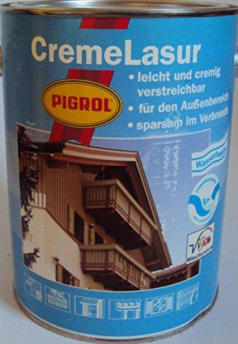 750 ml Pigrol Cremelasur (tropft nicht, gelartig) Holzschutzlasur / Compactlasur vom Fachhandel für jedes Holz im Aussbereich / mit UV-Schutz u. lichtechter Pigmente (Natur 1540)