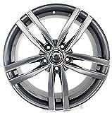 Llanta de aleación Dark a 1 7,5J 17 5 x 112 ET45 66,5 para Audi A3 A4 Q2 Volkswagen Golf 5 6 7 Passat Mercedes Clase A Made in Italy
