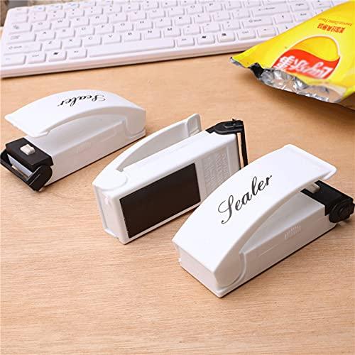 ZXZCHGN Mini selladores de bolsas, sellador de vacío de mano portátil, sellador de bolsas de calor Máquina de sellado térmico de la mano adecuada for la conservación de la merienda y el almacenamiento