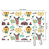 shower curtain doormat Pirates Typography Poster Baby Washable Placemats for Dining Table Double Fabric Printing Cotton Place Mats for Kitchen Table Set of 4 Table Mat 12'x18'
