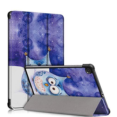 topCASE Custodia Ultrasottile Compatibile con Samsung Galaxy Tab S6 Lite 10.4 SM-P610/SM-P615 Cover con Funzione di Supporto e Auto Sveglia/Sonno,Gufo