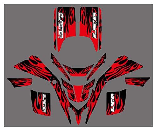 XIAOZHIWEN Motorrad-Team Grafische Hintergrundaufkleber Aufkleber Kit for Yamaha Blaster YFS 200 YFS200 1998-2006 Universal