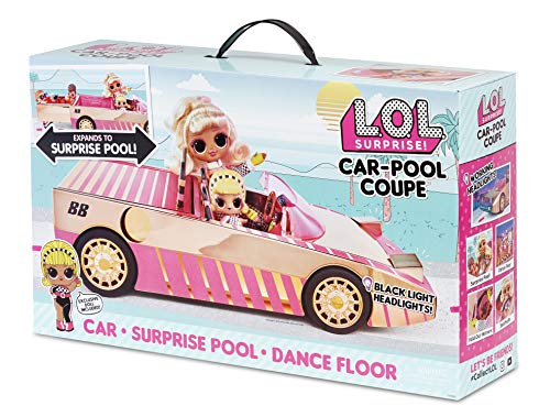 L.O.L. Surprise! Car-Pool-Coupé mit Exklusiver Puppe, Überraschungs-Pool, Tanzfläche & Mehr